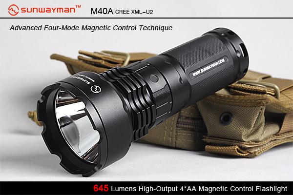 THE 懐中電灯スタイルの SUNWAYMAN(サンウェイマン) M40A をSUREFIREと比較する。