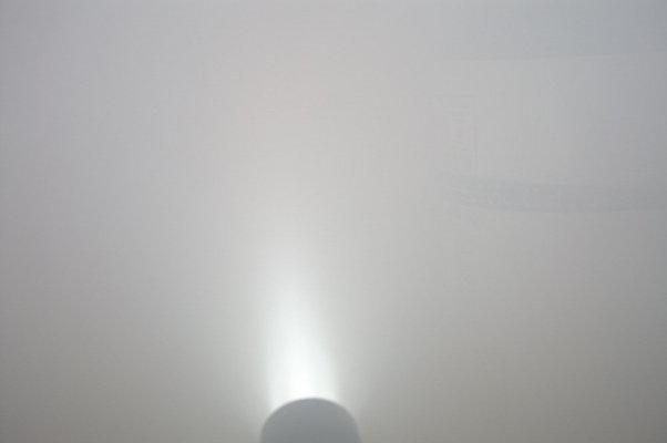 煙に弱い普通の懐中電灯