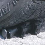 SD-30を車で轢く・ダットサイトの耐久性実験