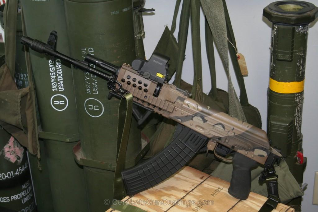 セラコート タン 銃 塗装例