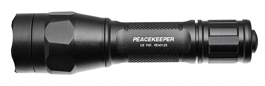 防災におすすめの懐中電灯(フラッシュライト):シュアファイア(Surefire)P1R-A-BK PEACEKEEPER TACTICAL 充電器付き