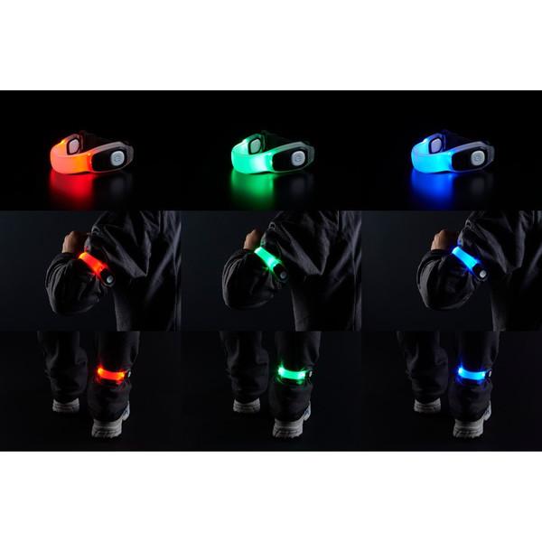 防災におすすめの懐中電灯(フラッシュライト):GENTOS (ジェントス) +AX-R100 3色切替可能 充電式LEDセーフティバンド